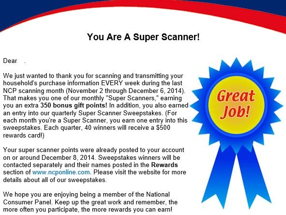 SUPER Scanner Reward